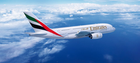 Fly Emirates A380 from Moscow to Dubai
