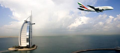 Эксклюзивные преимущества от Burj Al Arab для пассажиров Первого класса и Бизнес-класса Эмирейтс A380