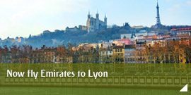 Now fly Emirates to Lyon