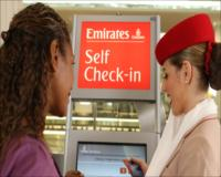 Economy Class self check-in with bag drop