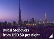 Dubai Stopovers from USD 39 per night