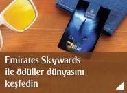 Emirates Skywards'a katılın, ödül ve ayrıcalıklar dünyasını keşfedin