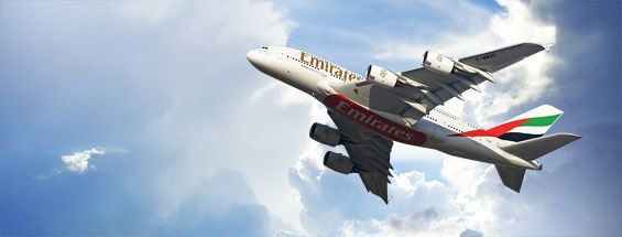 The inaugural Emirates A380 flight today departed from the world's only dedicated, purpose-built A380 concourse at Dubai International Airport