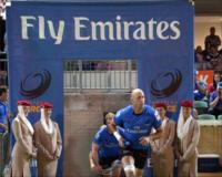 Captain Nathan Sharpe leads out the Emirates Western Force
