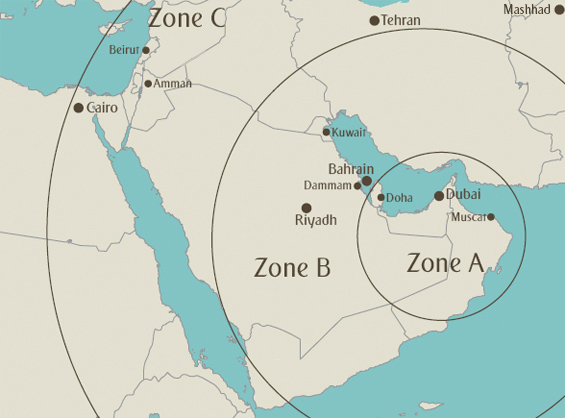 Arabian Airpass Map